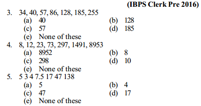 Series Questions for IBPS Clerk 2