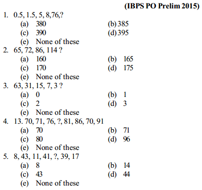 Series Questions for IBPS PO 12