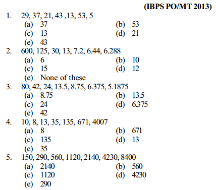 Series Questions for IBPS PO 18