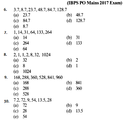 Series Questions for IBPS PO 2