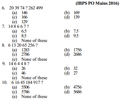 Series Questions for IBPS PO 8