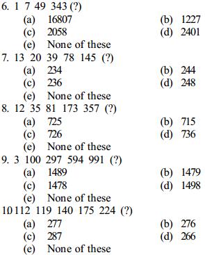 Series Questions for SBI Clerk 6