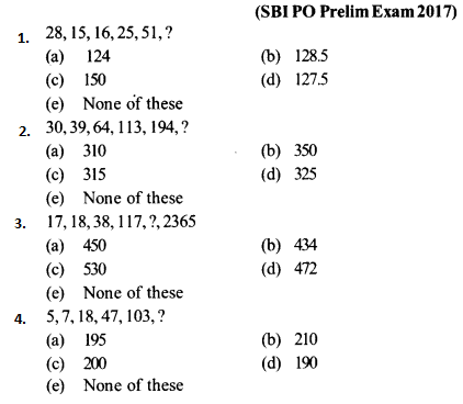 Series Questions for SBI PO 1