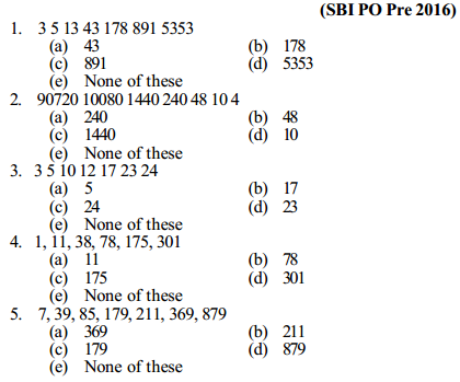 Series Questions for SBI PO 4
