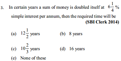 Simple Interest and Compound interest Questions for SBI Clerk 10