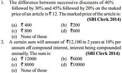 Simple Interest and Compound interest Questions for SBI Clerk 6