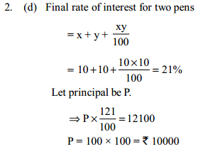 Simple Interest and Compound interest Questions for SBI Clerk 8