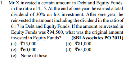 Simple Interest and Compound interest Questions for SBI PO 9
