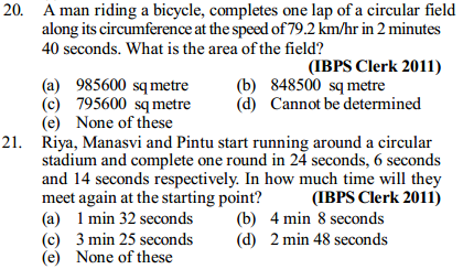 Time, Speed and Distance Questions for IBPS Clerk 17