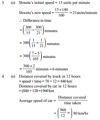 Time, Speed and Distance Questions for IBPS Clerk 19