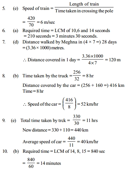 Time, Speed and Distance Questions for IBPS Clerk 20