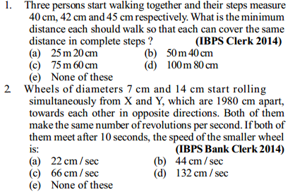 Time, Speed and Distance Questions for IBPS Clerk 7