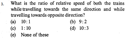 Time, Speed and Distance Questions for SBI PO 5