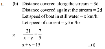 Time, Speed and Distance Questions for SBI PO 8